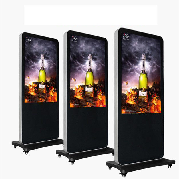 High Resolution Floor Standing LCD Advertising Player